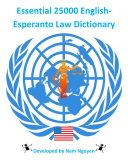 Essential 25000 English-Esperanto Law Dictionary