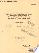 Engineered Waste Package Conceptual Design
