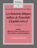 Pdf Les Industries lithiques taillées de Franchthi (Argolide, Grèce), Volume 1 Telecharger