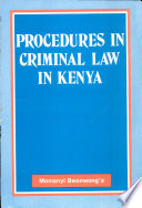 Procedures in Criminal Law in Kenya