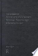 The Handbook of Child and Adolescent Clinical Psychology