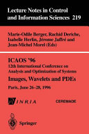 ICAOS    96 12th International Conference on Analysis and Optimization of Systems