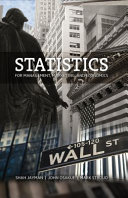 Statistics for Management Marketing and Economics Book