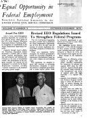 Equal Opportunity in Federal Employment