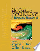 21st Century Psychology  A Reference Handbook Book