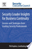 Security Leader Insights for Business Continuity Book