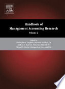 Handbook of Management Accounting Research