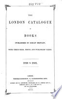 The London Catalogue Of Books