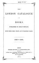 Modern Catalogue of Books