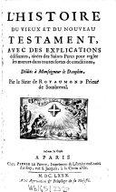L' histoire du vieux et du nouveau Testament