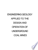 Engineering Geology Applied To The Design And Operation Of Underground Coal Mines
