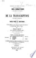 Facult De Droit De Paris Des Donations En Droit Romain Th Se Pour Le Doctorat Etc