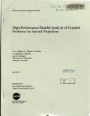 High Performance Parallel Analysis of Coupled Problems for Aircraft Propulsion Book