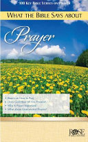 What The Bible Says About Prayer
