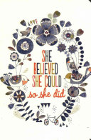 She Believed Journal Book