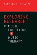 Exploring Research in Music Education and Music Therapy Book