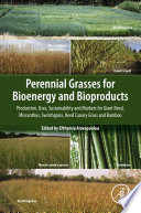 Perennial Grasses for Bioenergy and Bioproducts Book