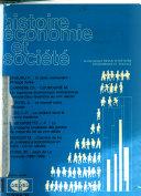 Histoire, économie et société