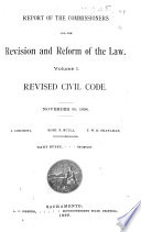 Report of the Commissioners for the Revision and Reform of the Law     Revised Civil Code