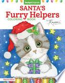 Santa's Furry Helpers Coloring Book