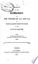 An Essay on the Epidemics of the Winters of 1813 and 1814
