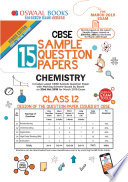 Oswaal Cbse Sample Question Papers Class 12 Chemistry For March 2019 Exam