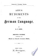 Ahn's rudiments of the German language, Rudiments of the German language 1879