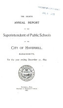 Annual Report of the School Committee of the City of Haverhill