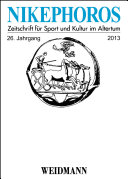 Nikephoros   Zeitschrift f  r Sport und Kultur im Altertum