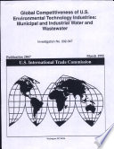 Global Competitiveness Of U S Environmental Technology Industries Book PDF