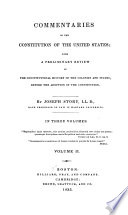 Commentaries on the Constitution of the United States Book