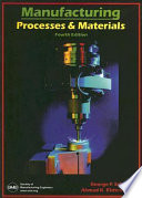 Manufacturing Processes and Materials  Fourth Edition