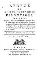 Abrégé de l'histoire générale des voyages