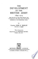 The Development of the British Army, 1899-1914