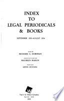 Index to Legal Periodicals & Books