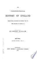 The Constitutional History of England Book