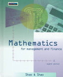 Mathematics for Management and Finance