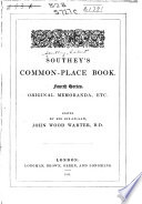 Southey s Common place Book Book
