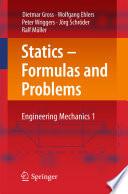 Statics – Formulas and Problems