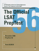 Cover of The Official LSAT Preptest 56