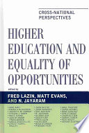 Higher Education and Equality of Opportunity Book