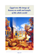 Egypt was the image of heaven on earth and temple of the whole world