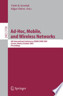 Ad Hoc  Mobile  and Wireless Networks Book