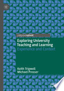 Exploring University Teaching and Learning Book