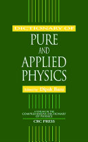 Dictionary of Pure and Applied Physics [Pdf/ePub] eBook