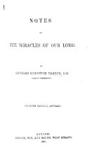Notes on the Miracles of Our Lord     Sixth edition