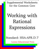 CCSS HSA-APR.D.7 Working with Rational Expressions
