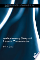 Modern Monetary Theory and European Macroeconomics