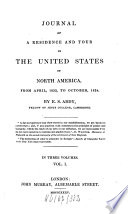 Journal of a Residence and Tour in the United States of North America Book
