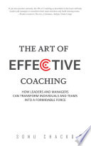 The Art Of Effective Coaching Book